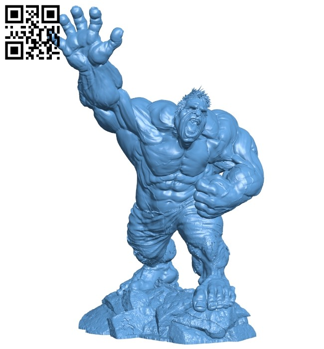 Hulk - superhero B008993 file obj free download 3D Model for CNC and 3d printer
