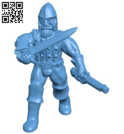 Human militia B008926 file obj free download 3D Model for CNC and 3d printer