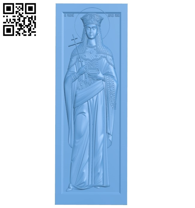Icon Saint Helena A005938 download free stl files 3d model for CNC wood carving