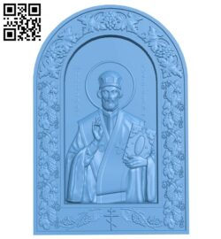 Icon Saint Nicholas A005935 download free stl files 3d model for CNC wood carving
