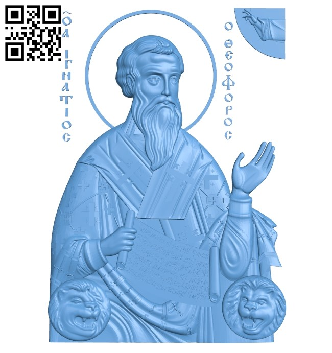 Icon of Saint Ignatius A005934 download free stl files 3d model for CNC wood carving
