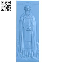 Icon of St. Sergius of Radonezh A005937 download free stl files 3d model for CNC wood carving