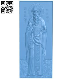 Icon of St. Spyridon of Trimyphus A005939 download free stl files 3d model for CNC wood carving
