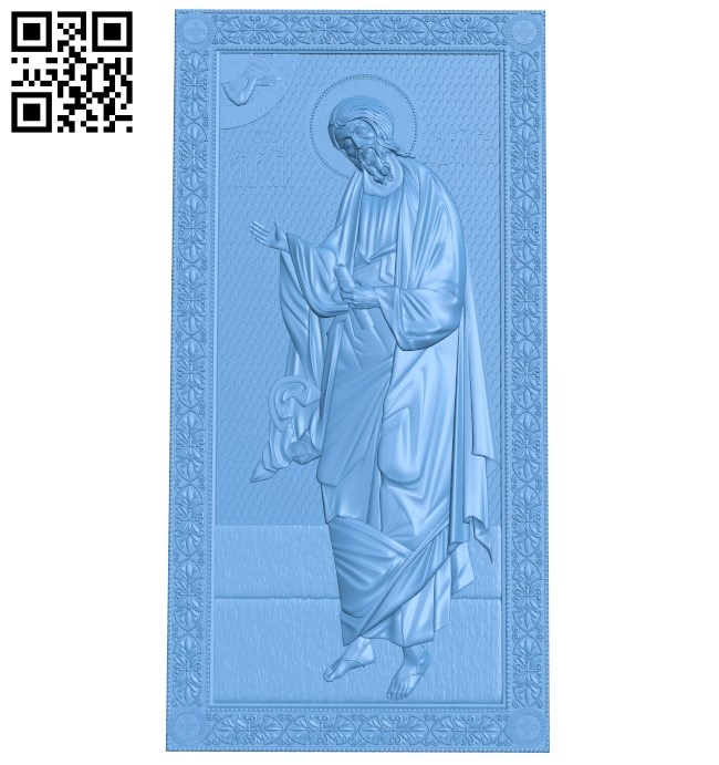 Icon of the Apostle Andrew the First-Called A005931 download free stl files 3d model for CNC wood carving