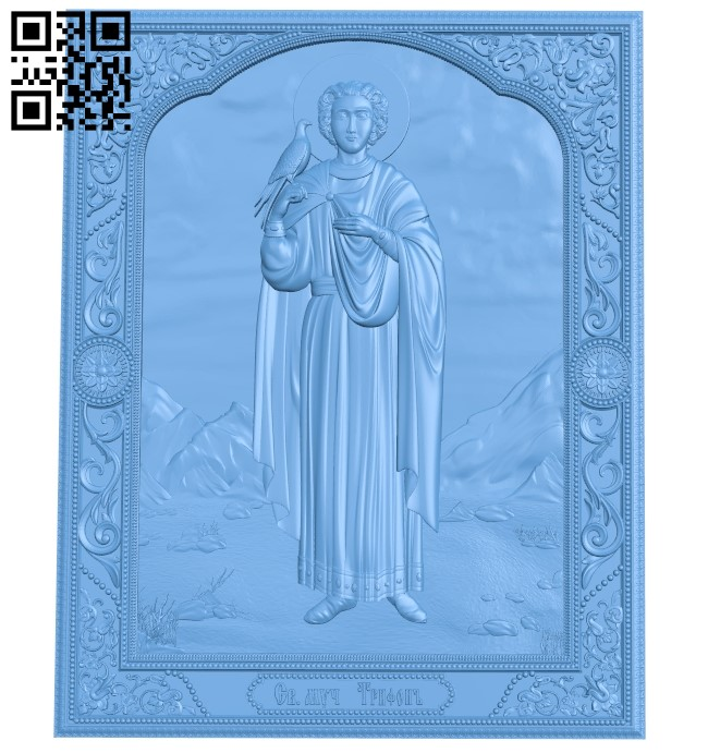 Icon of the Holy Martyr Tryphon A005932 download free stl files 3d model for CNC wood carving