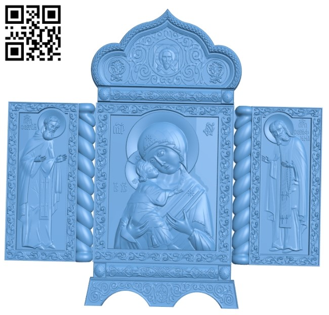 Iconostasis Icon A005936 download free stl files 3d model for CNC wood carving