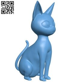 Jiji CAT – Kiki's delivery service B009008 file obj free download 3D Model for CNC and 3d printer