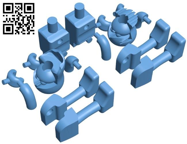 K'NEX Custom Dolls B008929 file obj free download 3D Model for CNC and 3d printer
