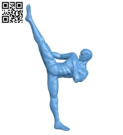 Karate man B008953 file obj free download 3D Model for CNC and 3d printer