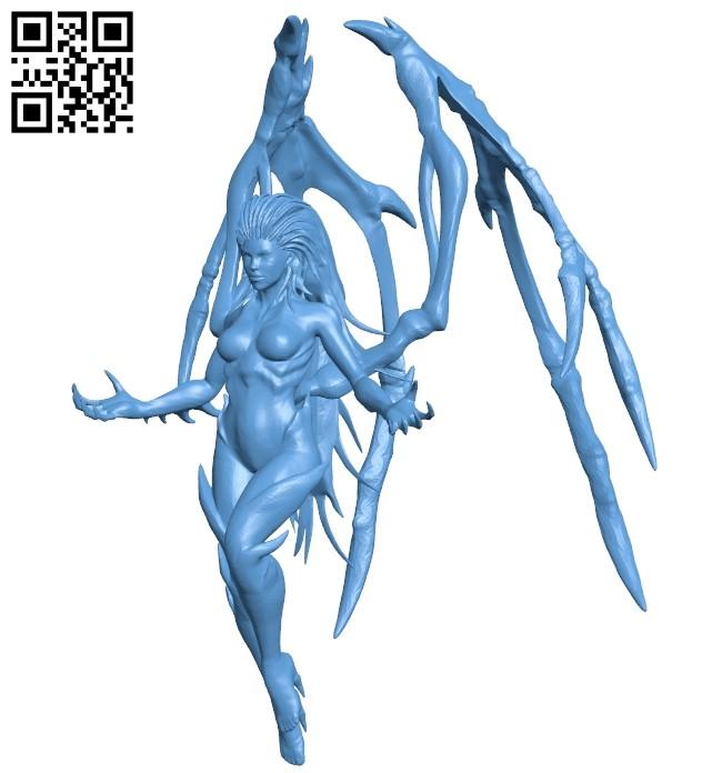 Kerrigan - devil B009027 file obj free download 3D Model for CNC and 3d printer