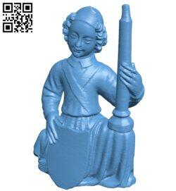 Kneeling Angel B008928 file obj free download 3D Model for CNC and 3d printer