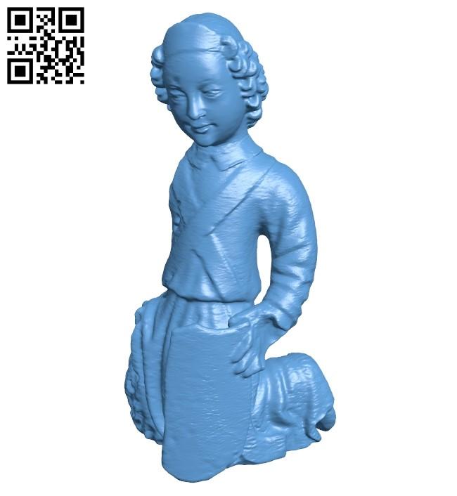 Kneeling Angel B008968 file obj free download 3D Model for CNC and 3d printer