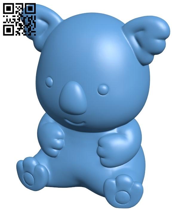 Koala - Koala's march B008969 file obj free download 3D Model for CNC and 3d printer