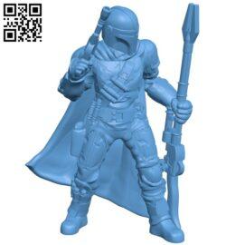 Mandalorian B008982 file obj free download 3D Model for CNC and 3d printer