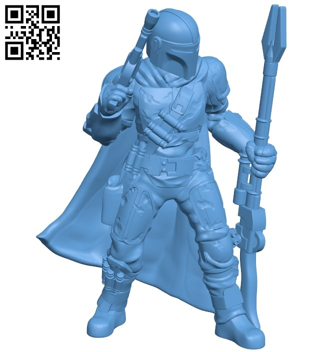 Mandalorian B008982 file obj free download 3D Model for CNC and 3d printer