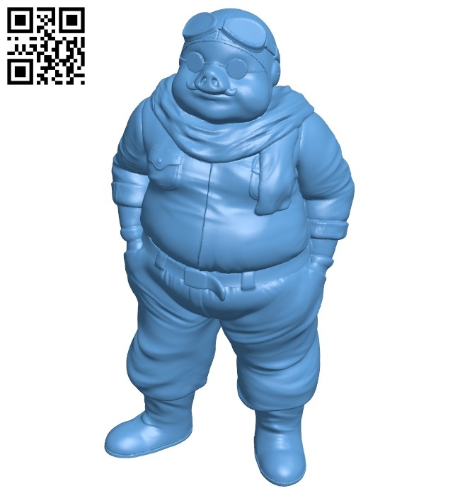 Marco Pagot - Porco Rosso B009037 file obj free download 3D Model for CNC and 3d printer