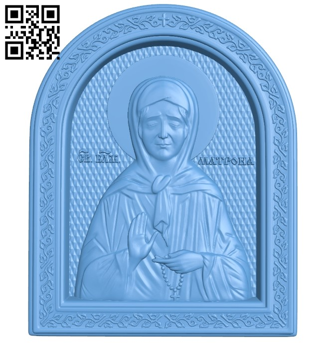 Matron Icon A005933 download free stl files 3d model for CNC wood carving