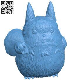 Medium Totoro – My Neighbor Totoro B008935 file obj free download 3D Model for CNC and 3d printer