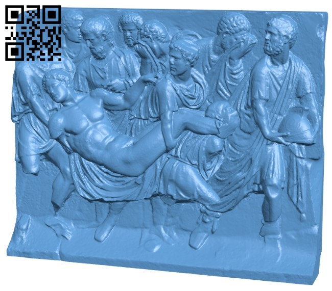 Met marble sarcophagus fragment B008934 file obj free download 3D Model for CNC and 3d printer
