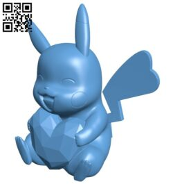 Pikachu – Pokemon B008939 file obj free download 3D Model for CNC and 3d printer