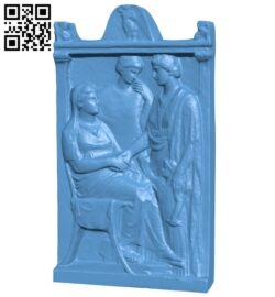 Met stele of a woman B008963 file obj free download 3D Model for CNC and 3d printer