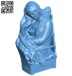 Met stele of a woman B008991 file obj free download 3D Model for CNC and 3d printer