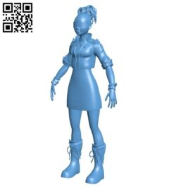 Miss Cyberpunk teen B009012 file obj free download 3D Model for CNC and 3d printer