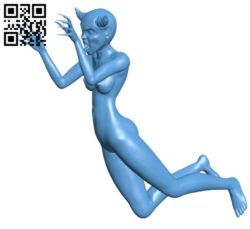 Monster woman – devil B008999 file obj free download 3D Model for CNC and 3d printer