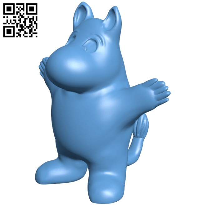 Moomin B008956 file obj free download 3D Model for CNC and 3d printer