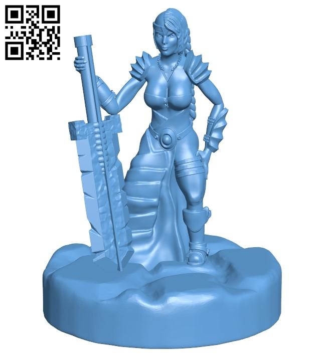 Mr Dwarven Butcher B008966 file obj free download 3D Model for CNC and 3d printer