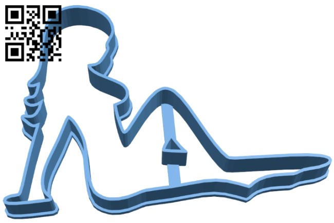 Mudflap girl cutter B009019 file obj free download 3D Model for CNC and 3d printer