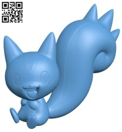 Pachirisu – pokemon B009003 file obj free download 3D Model for CNC and 3d printer
