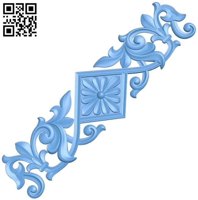 Pattern decor design A005890 download free stl files 3d model for CNC wood carving