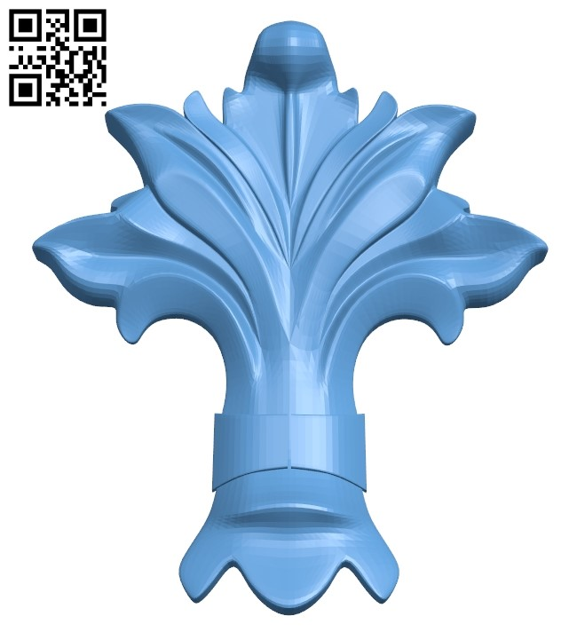 Pattern decor design A005896 download free stl files 3d model for CNC wood carving