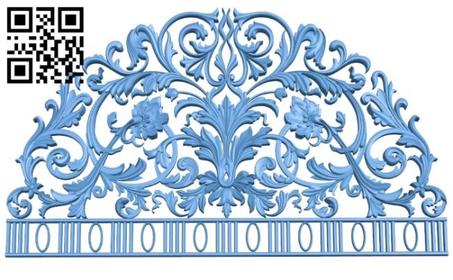 Pattern decor design A005980 download free stl files 3d model for CNC wood carving
