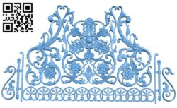 Pattern decor design A005982 download free stl files 3d model for CNC wood carving