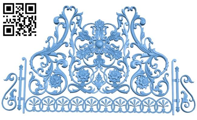 Pattern decor design A005982 download free stl files 3d model for CNC wood carving