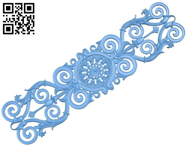 Pattern decor design A005986 download free stl files 3d model for CNC wood carving
