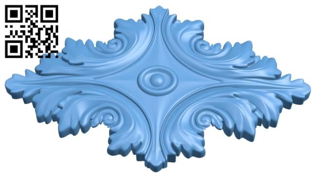Pattern flower design A005909 download free stl files 3d model for CNC wood carving