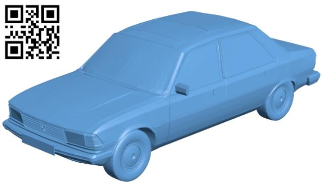 Peugeot 305 - car B008981 file obj free download 3D Model for CNC and 3d printer