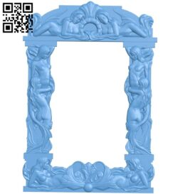 Picture frame or mirror A005911 download free stl files 3d model for CNC wood carving