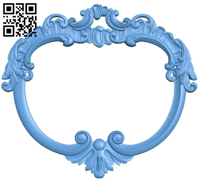 Picture frame or mirror A005912 download free stl files 3d model for CNC wood carving