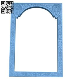 Picture frame or mirror A005913 download free stl files 3d model for CNC wood carving