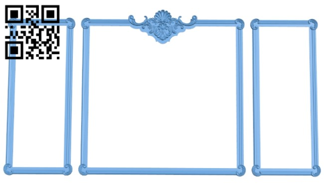 Picture frame or mirror A005914 download free stl files 3d model for CNC wood carving