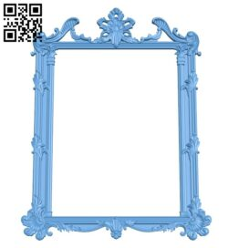 Picture frame or mirror A005915 download free stl files 3d model for CNC wood carving