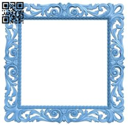 Picture frame or mirror A005916 download free stl files 3d model for CNC wood carving