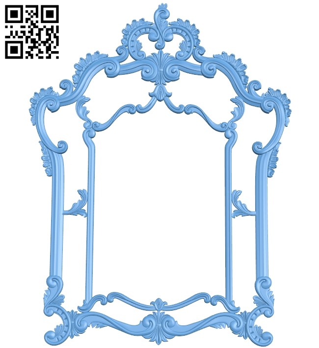 Picture frame or mirror A005917 download free stl files 3d model for CNC wood carving