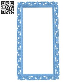 Picture frame or mirror A005918 download free stl files 3d model for CNC wood carving