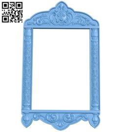 Picture frame or mirror A005919 download free stl files 3d model for CNC wood carving