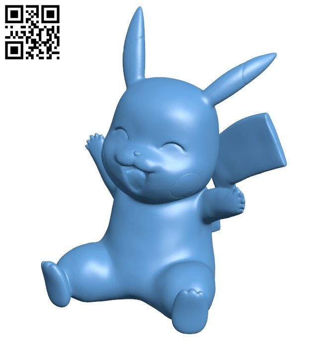 Pikachu - pokemon B009029 file obj free download 3D Model for CNC and 3d printer